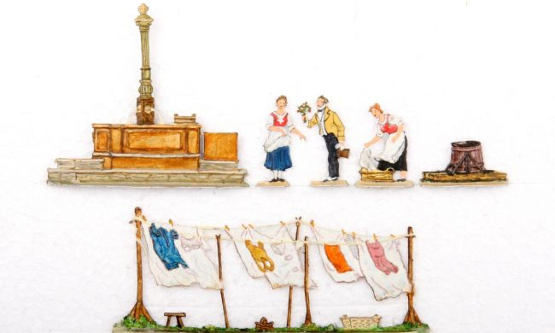 Biedermeier, der ewige Hochzeiter, nach Spitzweg, Scholtz, gute, leicht schattierte Bemalung, 6