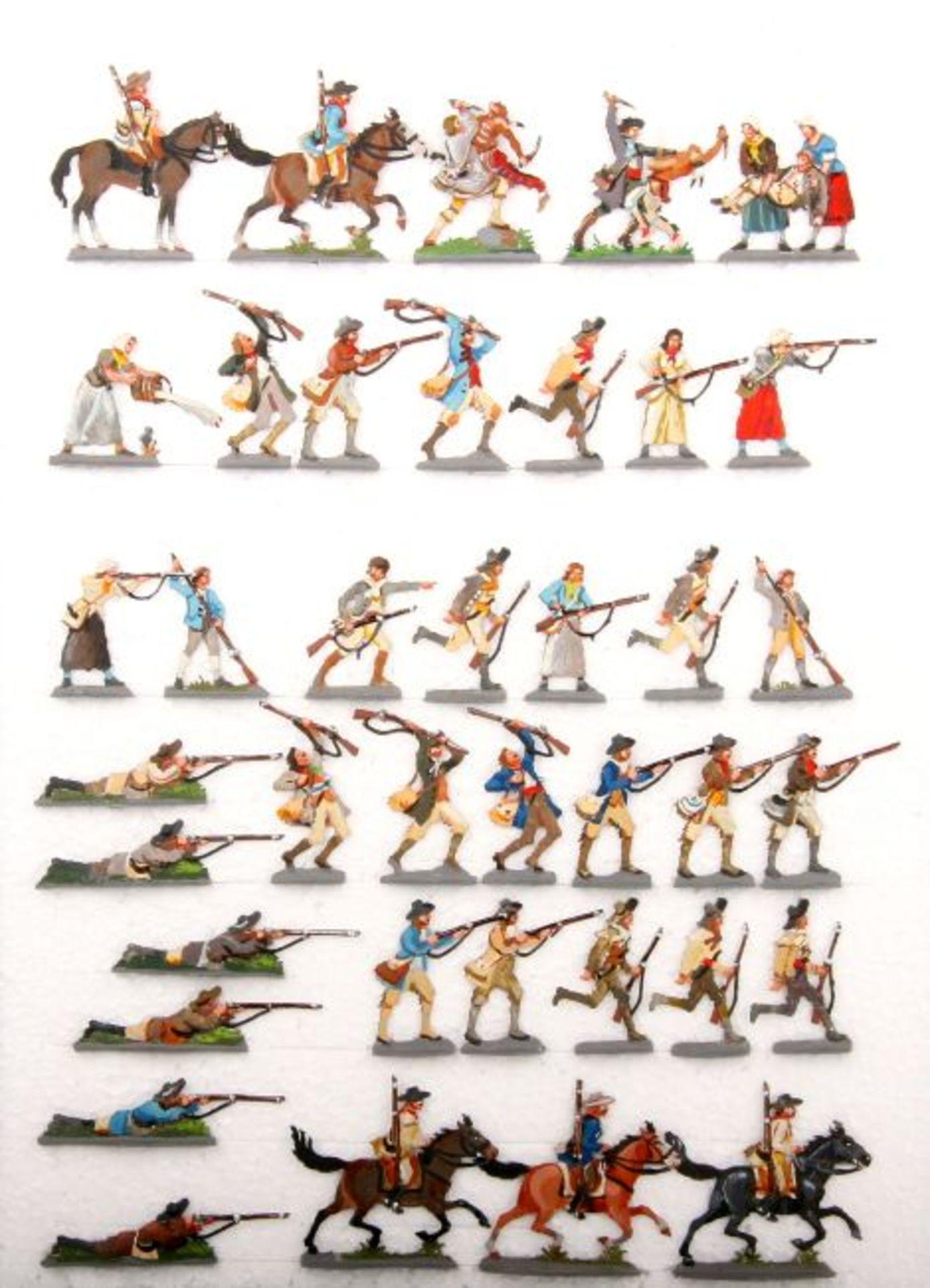 Nordamerika, USA, 18. Jahrhundert, Siedler im Kampf mit Indianern, Loy, gute, schattierte