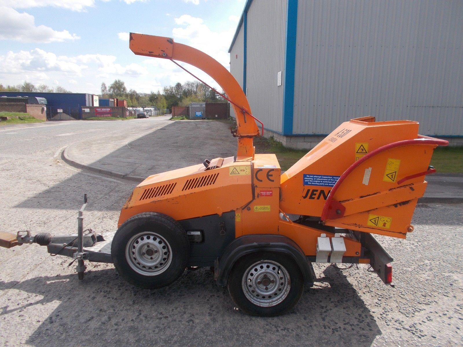 Jensen A530 Wood Chipper Electric Start Kubota Diesel