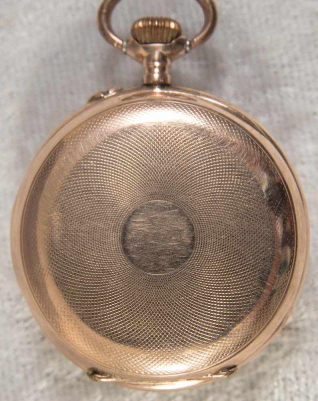 Lot 5836 - Goldene Halbsavonette Damentaschenuhr, glattes 585er Gelbgoldgehäuse, Durchmesser ca. 30 mm, ca.