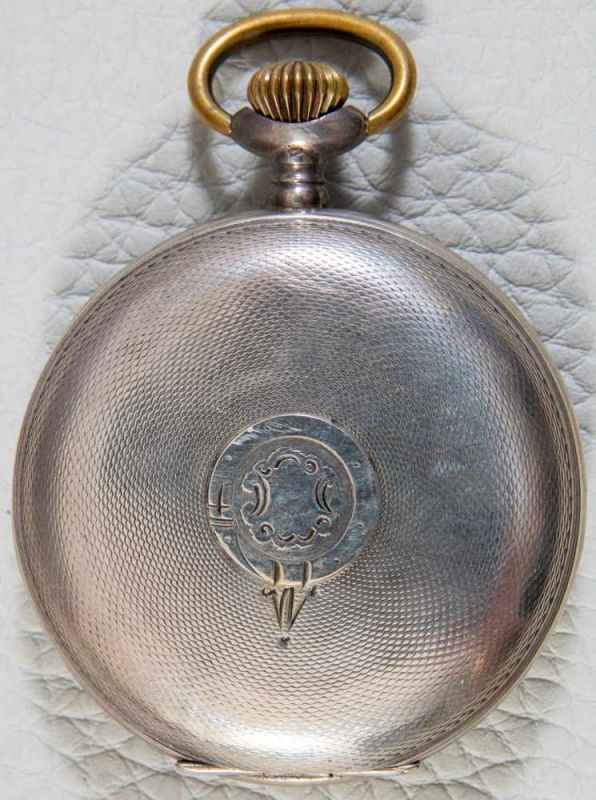 "Lot 5844 - ""HEBDOMAS - 8 JOURS"" - SAVONETTE Herrentaschenuhr in 800er Silber, Porzellanziffernblatt mit arab."