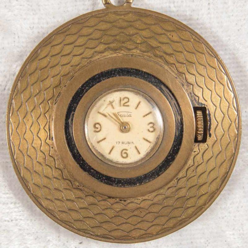 Lot 5809 - 2 alte/antike Damen-Schmucktaschenuhren, ungeprüft, 1 x mit transluzidem Emaille-Dekor.