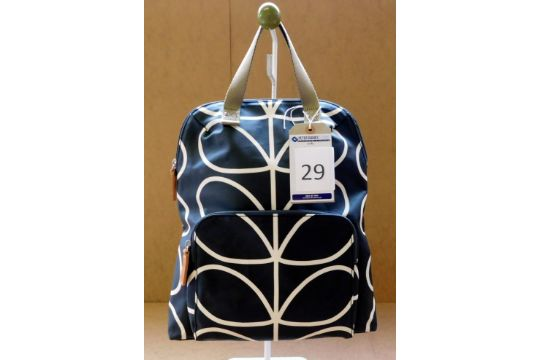 9a612bc9b6f Orla Kiely Giant Linear Stem Backpack Tote, Liquorice, RRP   163 155