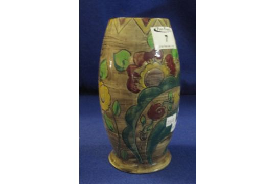 Mabel Leigh For Shorter Brothers Barrel Shaped Pottery Vase