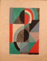 Lot 3 - Sonia DELAUNAY (1885-1979). Icône 1967. Lithographie en couleurs. Signé et daté 67 [...]