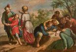 Lot 40 - École FLAMANDE du XVIIème siècle. Joseph vendu par ses frères ; La découverte de [...]