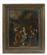 Lot 37 - Louis de CAULLERY (Circa 1565 - 1622). L'Adoration des mages. Cuivre 37,5 x 31 cm - [...]