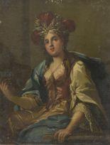 Lot 45 - École napolitaine du XVIIIe siècle, entourage de Jacopo CESTARO. Quatre sibylles [...]