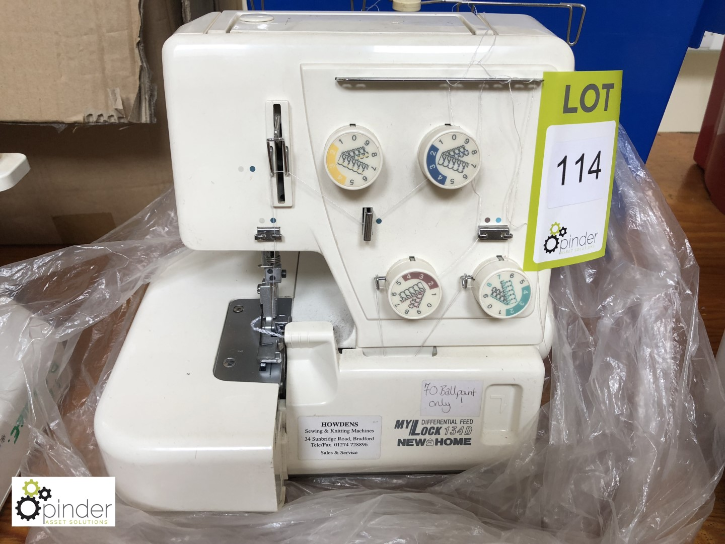 Lot 114 - Janome MyLock 134D 4-thread Overlocker (located in W602, level