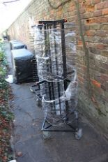 Lot 329a - Jackstack Charged Plate Storage 104 Plates 50mm spacing between supports 170mm plate supports 4 x