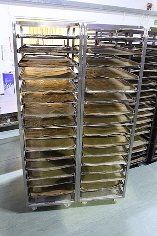 Lot 98 - 4 x stainless steel 16 tray bakery rack 770mm x 520mm x 1820mm