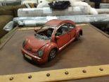 Lot 336 - Vintage Red Tin Car 32 x 14 x 12cm RRP £300