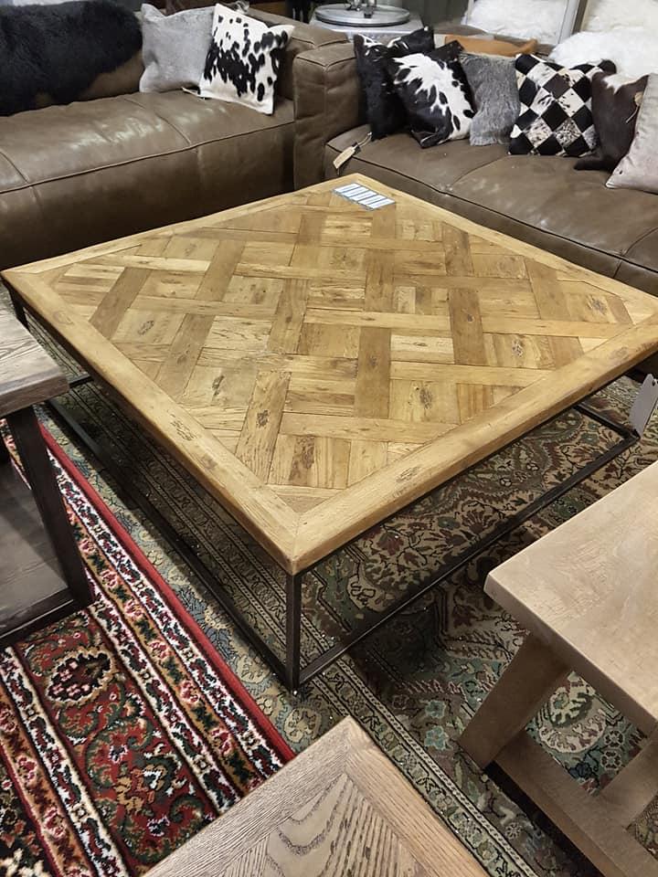 Lot 3204 - Arlington Coffee Table 123x123cm Saloon & Iron Top Only 122 9 x 122 9 x 40cm