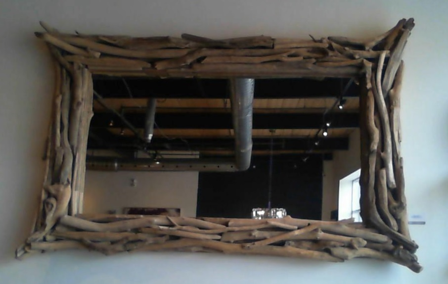 Lot 3266 - Burrow Tall Mirror Drift Wood 235cm Large Rustic Mirror With Salvaged Branches, Great For An Open-