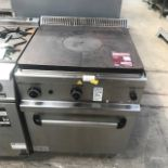 Lot 62 - MBM GTF77 LPG solid top with Oven The worktop is in 1.5 mm AISI 304 stainless steel with pressed