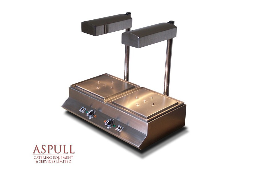 Lot 15 - Aspull Catering Heated Carvery unit with lights Our stainless steel free standing single or double
