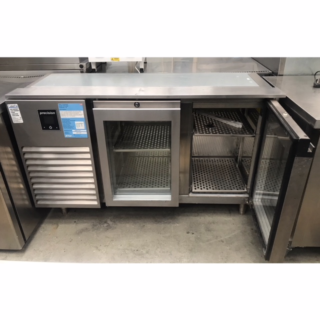 Lot 24 - Precision MCU223 2 door chiller counter with gantry Precision's durable all stainless steel slimline