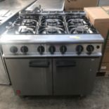 Lot 60 - Falcon G3101 Gas 6 Burner The Falcon 6 Burner Dominator Plus Range G3101 Natural Gas with Feet
