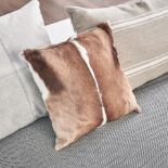 Lot 1 - Cushion - 4 x Springbok Cushions Handcrafted Genuine Springbok Hide Cushion 40x30x15cm RRP £625