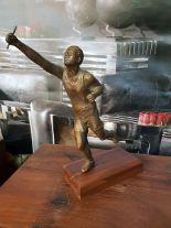 Lot 40 - Sculpture - Bronzed Resin Sport Man RS-06 Objets d'Art Decorative Accessories Carton Size 26 x 20