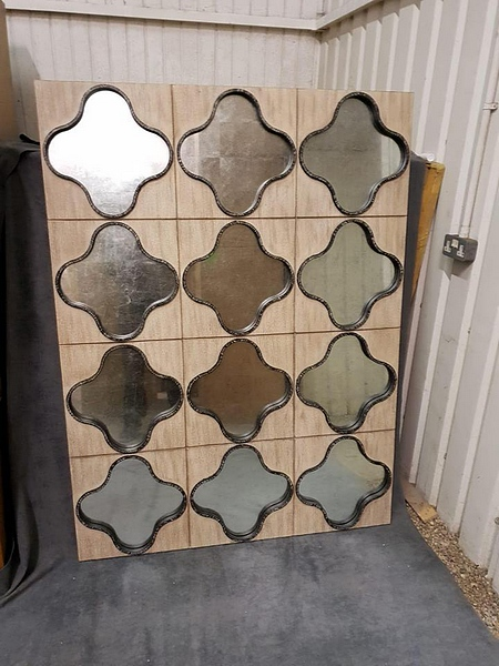 Lot 39 - Mirror - Boyd Gentain Mirror A Stunning Wall Tile Effect Framed Mirror 1250 x 33 x 1665 cm MSRP £