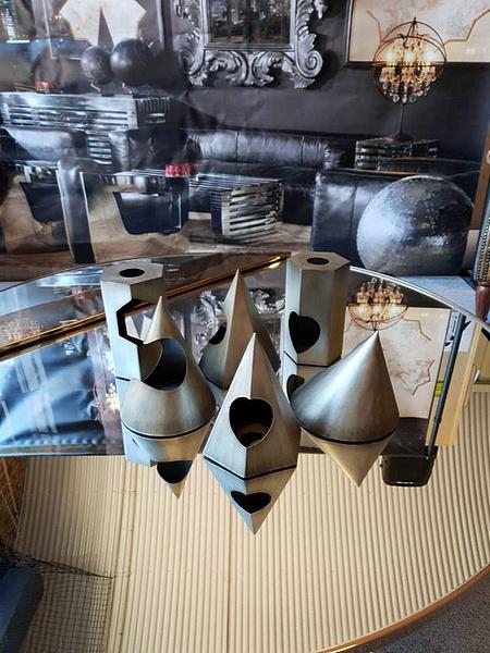 Lot 6 - Sculpture - Academie Shadow A Set Of 6 x Various Cast Steel Sculptures Objets d'Art Decorative