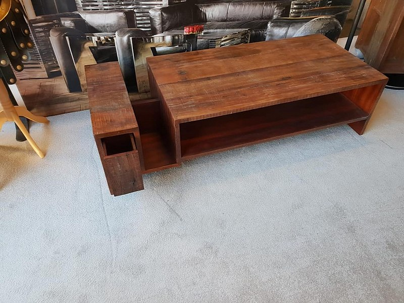 Lot 29 - Coffee Table - Avett CoffeeTable Hand-Crafted From Exotic Demolition Hardwoods,The Avett CoffeeTable