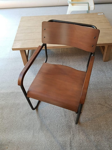 Lot 12 - Chair - Andrew Martin Lothar Cantilevered Armchair Cantilevered Iron Frame Armchair With Laminated