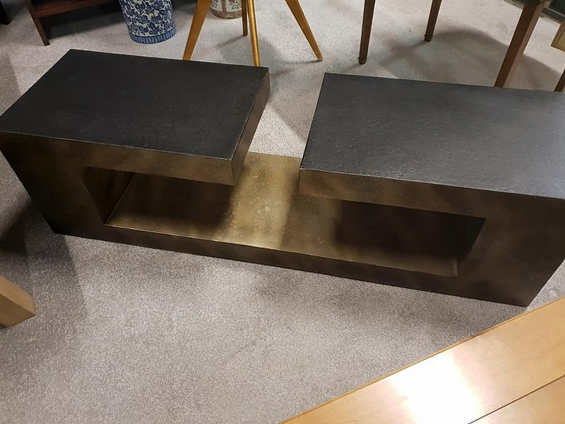 Lot 7 - Coffee Table - Andrew Martin Hudson Coffee Table A Stunning Contemporary Piece Ebonised And Textured