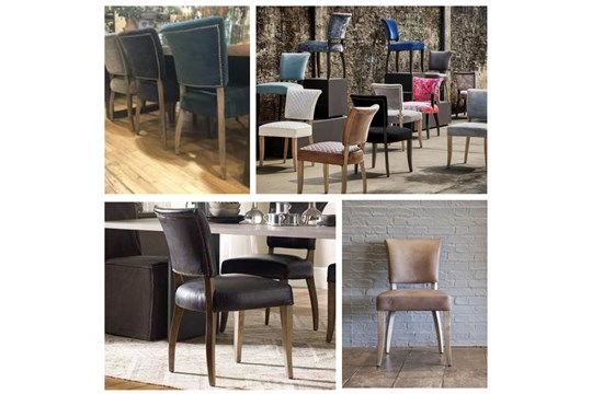 Lot 80 - Mimi Dining Chair Vintage Moleskin Fog & Black Frame The Mimi Dining Chair Is One Of The Most