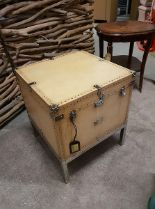 Lot 70 - Leopold Trunk This Gorgeous Ivory Coloured Trunk Recalls The Simple Elegance Of An Antique Steamer