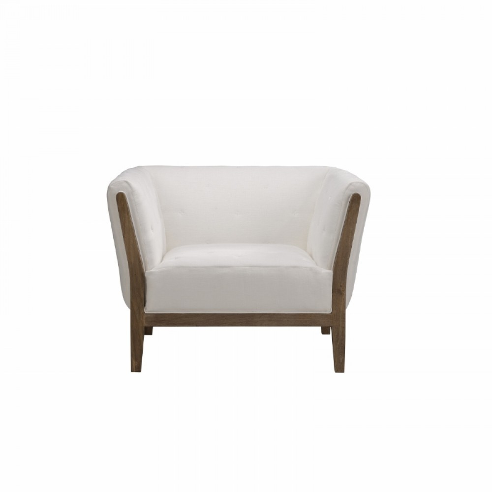 Lot 63 - Duvet Sofa 1 Seater Galata Linen White Lightly Inspired By The Classic Chesterfield, The Duvet