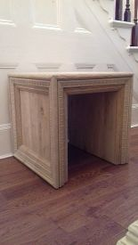 Lot 4 - Portrait Side Table Made From Solid 100% Oak That Has Been Bleached To Achieve A Light Colour
