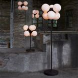 Lot 19 - Bleu Nature L257 Moondrop Floor Lamp (EU)Opaline Glass, Metal With Rusty Finish Ø40 H170 cm – Max.