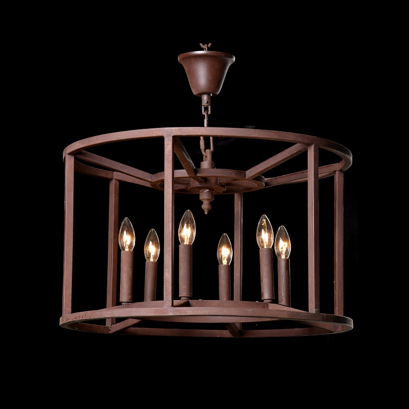 Lot 53 - Crown Pendant Chandelier The Crown Collection Is An Interpretation Of Industrial Design, Emphasizing