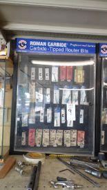 Lot 9 - ROMAN CARBIDE ROUTER BITS w/ CASE
