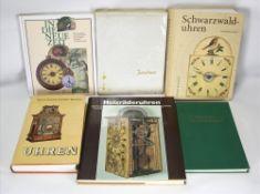Konvolut Uhrenbücher Insgesamt 6 diverse. Z.B. Schaaf: Holzräderuhren, Schaaf: Schwarzwalduhren,