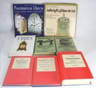 Konvolut Uhrenbücher Insgesamt 8 diverse. Z.B. Hillmann: Die Reparatur komplizierter Taschenuhren,