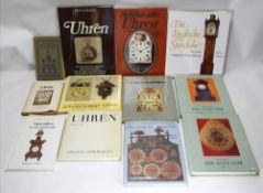 Konvolut Uhrenbücher Insgesamt 12 diverse. Z.B. Roberts: Die Englische Standuhr, Meis: Die Alte