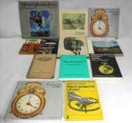 Konvolut Uhrenbücher Insgesamt 11 diverse. Z.B.: Wenzel: Das Ganze der Schildermalerei. Reutebuch: