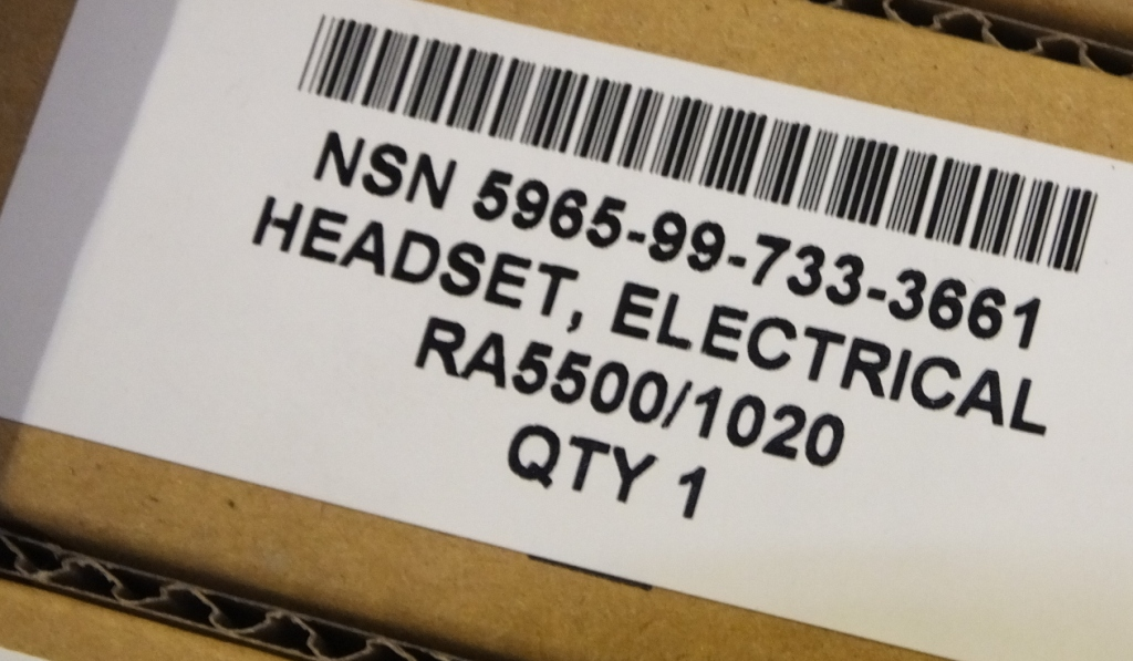Lot 59 - 240x Esrerline Frontier 1000 Communication Headset System RA5500 / 1020 NSN 5965-99-733-36