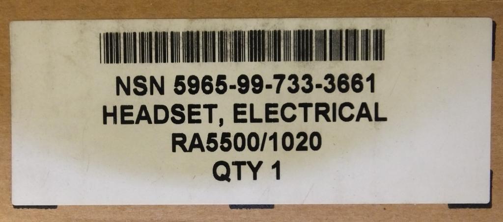 Lot 58 - 200x Esrerline Frontier 1000 Communication Headset System RA5500 / 1020 NSN 5965-99-733-36