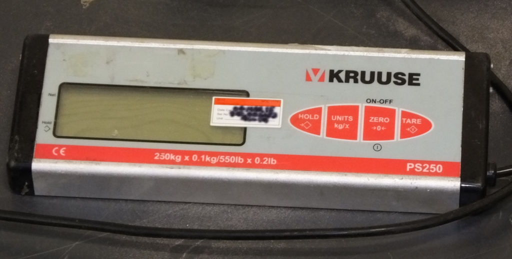 Lot 34 - Kruuse PS250 Weighing scales 250kg
