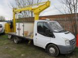 Lot 3 - 2009 (59) Ford Transit T350M Truck Mounted Cherry Picker Platform - FX59 WNC