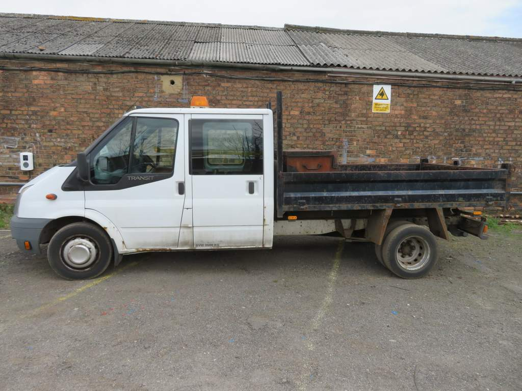 Lot 14 - 2009 Ford Transit T350L Double Cab Tipper - FX09 YCE