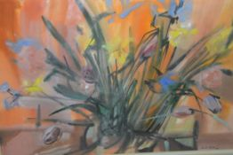 Jack Firth R.S.W. (Scottish, 1917-2010), Red Flower Painting, signed and dated (19)60,