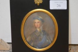 Late 19th Century School, A Portrait Miniature of Prince Charles Edward Stuart, The Young Pretender,