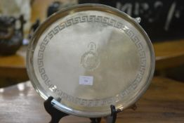 A George III silver salver, Thomas and Daniel Leader, Sheffield 1800, of oval form, the well