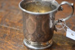 A Victorian silver christening cup, Goldsmiths Alliance Ltd, London 1866, chased and engraved with