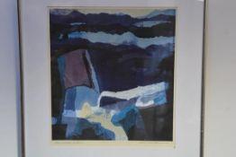 "Hamish Macdonald D.A., P.A.I., (Scottish, 1935-2008), ""Blue Landscape Surface's 1"", signed and"